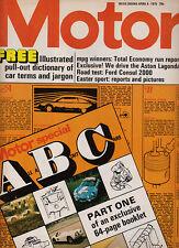 Motor 5 Apr 1975 - Ford Consul 2000L, Aston Martin Lagonda, Safari Rally, Classi