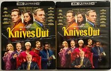 KNIVES OUT 4K ULTRA HD BLU RAY 2 DISC + SLIPCOVER SLEEVE FREE WORLD WIDE SHIPPIN