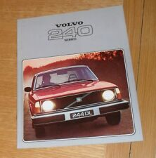 Volvo 240 Saloon & Estate Brochure 1978 - 244 DL 245 DL 245 GL 244 GL
