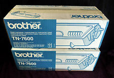 BROTHER TN-7600 x 2 off Hi Cap 6500 Page TONERS HL-1650 see pix BOTH GENUINE
