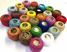 20 X Anchor hilo de ganchillo de algodón, 10 Bolas de Colores Costura abigarrada Bordado