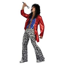 70's-80's Hair Band Heavy Metal Rocker Costume 2 Pc Red Jacket & Zebra Knit Pant