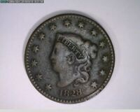1828 Large Cent Coronet Head ( 61-295 9m/o )