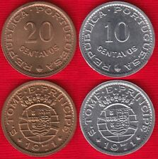 Sao Tome and Principe set of 2 coins: 10 - 20 centavos 1971 UNC