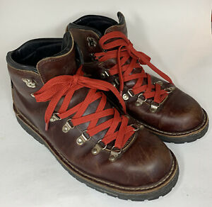 DANNER Boots MOUNTAIN PASS MENS 10 Dark Brown Used *Delaminating*