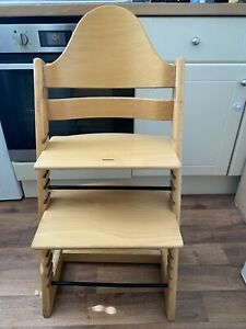 Stokke Tripp Trapp Highchair in Natural Wood Beech Colour