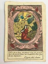Rare image pieuse de colporteur époque XVIII ème  Don de Science holy cards