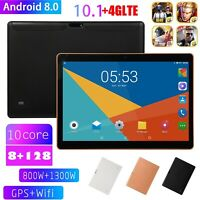 "10.1"" 4G-LTE Tablet PC 8+128G Ten Core Android 8.0 Wifi Phone Phablet 2 SIM GPS"