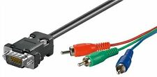 GOOBAY D-Sub/RGB Cavo Adattatore 2 M Spina D-Sub (15-pin) a 3x RCA MASCHIO (Y 'UV/RGB)