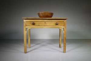 English 18th Century Antique Pine Side Table