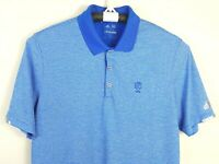 ADIDAS Climalite GOLF Polo Shirt Short Sleeve Blue Striped Mens Size Large L