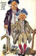 GEORGE WASHINGTON GEORGIE NEVER TOLD A LIE PATRIOTIC HOLIDAY POSTCARD 1909