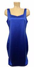 """NWT IRIS Royal Blue Dress Plus Size 1x 20"""" Sleeveless Bodycon Stretch Silky"""