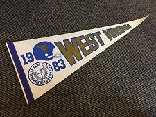 1983 Hall Of Fame Classic West Virginia Mountaineers Pennant Mint