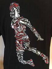 Nike Air Jordan Sneaker T-Shirt Jumpman Black Mens Size XL