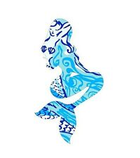 Mermaid in Blue Pattern Printed Decal Window/Car/Truck/Sticker **NEW ITEM**