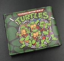 Teenage Mutant Ninja Turtles TMNT Logo 12cm Leather Wallets Purse #New56