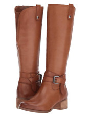 New NATURALIZER Dev Tall Leather Riding Boots Saddle Tan Brown 9.5 M NIB