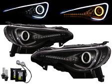 BRZ 2012-present Cotton Halo D4S Bulb W/S Ballast Headlight Black for SUBARU RHD