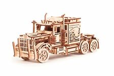 Wood Trick Big Rig Car Truck Mechanical Wooden 3D Puzzle Model Assembly DIY Kit