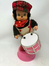 """Vintage 14"""" Tall Animated Monkey Playing the Drums"""