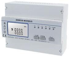 B+G e-tech  LCD Multifunktions Dreh- Stromzähler S0 RS485 10/100A  SDM530 Modbus