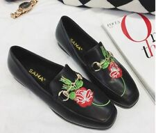Leather Medium Width (B, M) Floral Flats for Women