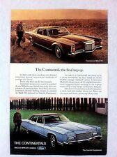 1971 Lincoln Continental Mark III Original Print Ad