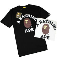 Men/Women BAPE Bathing Round Collar T-shirt Ape Head  Short Sleeve Tee Cotton