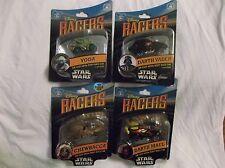 Disney Star Wars Racers Darth Maul, Chewbacca, Darth Vader, Yoda Set Rare. New