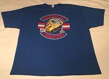 New York Giants Super Bowl XLVI Champions BIG ring Blue T-Shirt Size 2XL