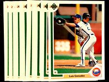 1991 Upper Deck LUIS GONZALES ~ 20 CARDS LOT ~ RC ROOKIE CARD