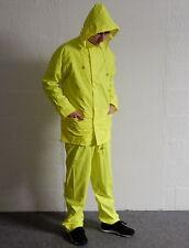 Bnwt Hi Viz Impermeabile Pioggia Giacca & Pantaloni Set Soft Flex tuta taglia med