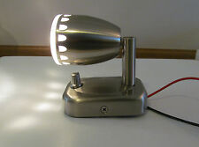 RV Boat 12V Nickel Halogen Berth Reading Light  On/Off Switch Sculpted Cut-Outs