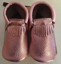 First Steps Genuine Leather Fringe Moccasins Toddler Girl Shoes US Size 6