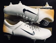 Nike Mercurial Vapor III White / Gold UK Size 10 Very Rare SG - launch colors