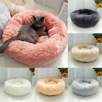 Pet Dog Cat Calming Bed Big Soft Plush Warm Round Nest Sofa Cushion 100cm XS-2XL