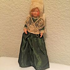 """Celluloid Vintage French Poupee 1950's Petitcollin 5"""" Jointed Doll"""