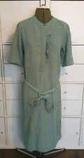 NOA NOA green floral dress size 40 frill button detail