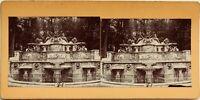 Fontana Napoli Italia? A Ientifier Fotografia Stereo Vintage Citrato c1900
