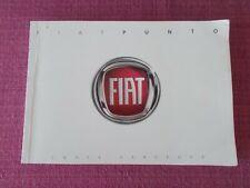 FIAT PUNTO CLASSIC OWNERS HANDBOOK MANUAL 2007-2011 New Print