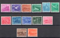 1955 India - Piano Every Five Years, N° 54/66 , Set Of 13 Values, MNH