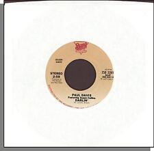 "Paul Davis - Darlin' + Ride 'em Cowboy - Bang 7"" 45 RPM Single!"