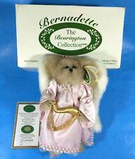 "The Bearington Collection Bernadette #1076- 10"" Plush Angel w/ Wings & Harp"