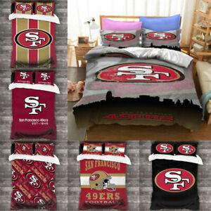 San Francisco 49ers 3PCS Duvet Quilt Pillowcases Comforter Cover All Season US
