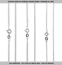 "Unbranded 16 - 17.99"" Sterling Silver Fine Necklaces & Pendants"