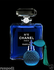 Advertising Poster/Print - Chanel Perfume Blue and Black/Spray Bottle/ 17x22