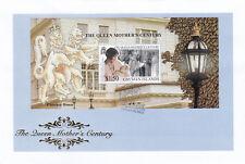 (19324) Cayman Islands FDC Queen Mother Century minisheet 18 August 1999