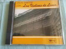 """JULIO SANTOS CON """"LOS VIOLINES DE LIMA""""MUSICA DEL PERU AUDIO CD"""