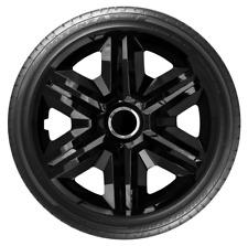 """4x Wheel Covers Hub Caps 16Inch Universal Wheel Trims ABS 16"""" Trim [FAST Black]"""